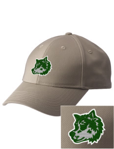 Chehalem Valley Middle School Wolves  Embroidered New Era Adjustable Structured Cap