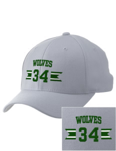 Chehalem Valley Middle School Wolves Embroidered Pro Model Fitted Cap