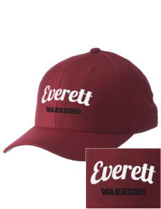 Everett Senior High School Warriors Embroidered Pro Model Fitted Cap