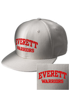 Everett Senior High School Warriors  Embroidered New Era Flat Bill Snapback Cap