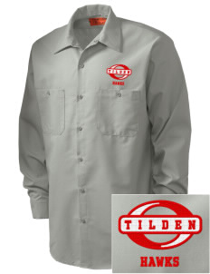 Tilden Elementary School Hawks Embroidered Men's Industrial Work Shirt - Regular