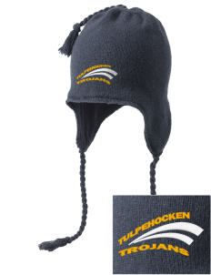Tulpehocken High School Trojans Embroidered Knit Hat with Earflaps