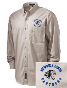 Mowrie A Ebner Elementary School Panthers Embroidered Tall Men's Twill Shirt