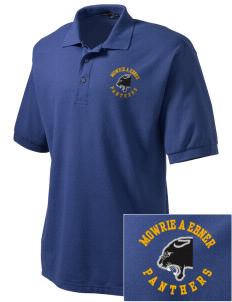 Mowrie A Ebner Elementary School Panthers Embroidered Tall Men's Silk Touch Polo