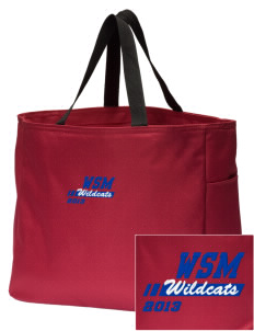Walter S Miller Elementary School Wildcats Embroidered Essential Tote