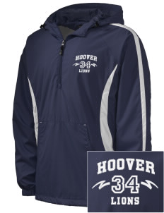 Hoover Elementary School Lions Embroidered Men's Colorblock Raglan Anorak
