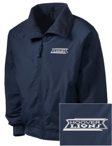 Hoover Elementary School Lions Embroidered Men's Fleece-Lined Jacket