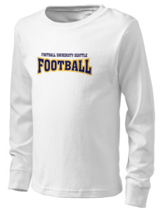 Football University Seattle Football  Kid's Long Sleeve T-Shirt