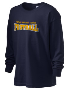 Football University Seattle Football Kid's 6.1 oz Long Sleeve Ultra Cotton T-Shirt