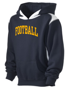 Football University Seattle Football Kid's Pullover Hooded Sweatshirt with Contrast Color