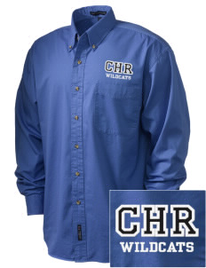 Charles H Russell Elementary School Wildcats Embroidered Men's Twill Shirt