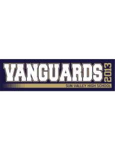 "Sun Valley High School Vanguards Bumper Sticker 11"" x 3"""