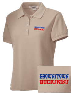 Brownstown Elementary School Buckskins Embroidered Women's Performance Plus Pique Polo