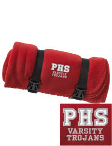 Parkland High School Trojans Embroidered Fleece Blanket with Strap