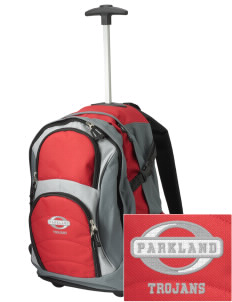 Parkland High School Trojans Embroidered Wheeled Adjustable Backpack