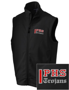Parkland High School Trojans Embroidered Men's Glacier Soft Shell Vest