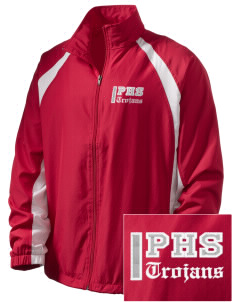 Parkland High School Trojans  Embroidered Men's Full Zip Warm Up Jacket