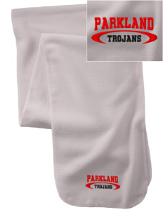 Parkland High School Trojans  Embroidered Extra Long Fleece Scarf