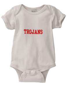 Parkland High School Trojans  Baby Organic Lap Shoulder Creeper