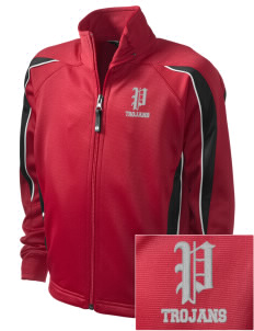 Parkland High School Trojans Embroidered Holloway Kid's Tricotex Warm Up Jacket