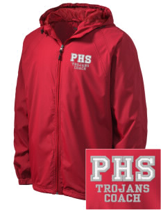 Parkland High School Trojans Embroidered Men's Hooded Raglan Jacket