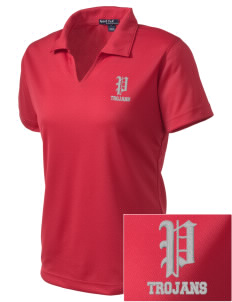 Parkland High School Trojans Embroidered Women's Dri Mesh Polo