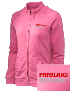 Parkland High School Trojans Embroidered Women's French Terry Raglan Jacket