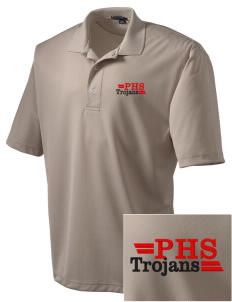 Parkland High School Trojans Embroidered Men's Dri Mesh Polo