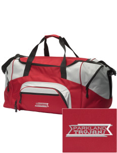 Parkland High School Trojans Embroidered Colorblock Duffel Bag