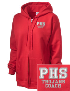Parkland High School Trojans Embroidered Unisex Full Zip Hooded Sweatshirt