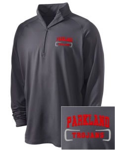 Parkland High School Trojans Embroidered Men's Stretched Half Zip Pullover