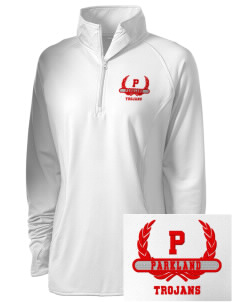 Parkland High School Trojans Embroidered Ladies Stretched Half-Zip Pullover