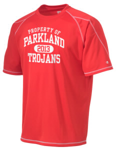 Parkland High School Trojans Champion Men's 4.1 oz Double Dry Odor Resistance T-Shirt