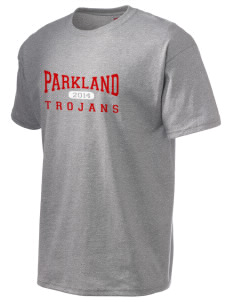 Parkland High School Trojans Hanes Men's 6 oz Tagless T-shirt