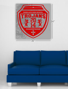 "Parkland High School Trojans Wall Poster Decal 36"" x 36"""