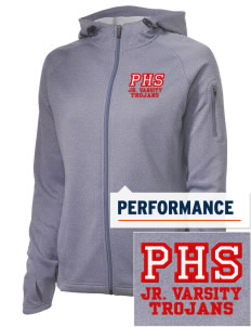 Parkland High School Trojans Embroidered Women's Tech Fleece Full-Zip Hooded Jacket