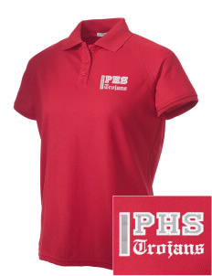 Parkland High School Trojans Embroidered Women's Technical Performance Polo