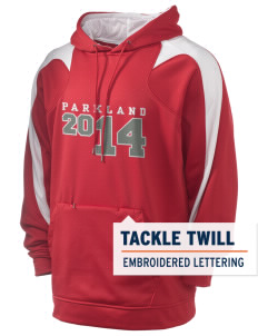 Parkland High School Trojans Holloway Men's Sports Fleece Hooded Sweatshirt with Tackle Twill