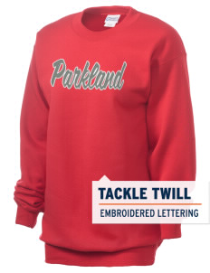 Parkland High School Trojans Unisex 7.8 oz Lightweight Crewneck Sweatshirt with Tackle Twill
