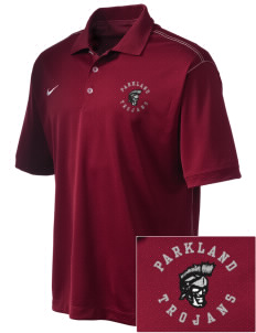 Parkland High School Trojans Emboridered Nike Golf Mens Sport Swoosh Pique Polo