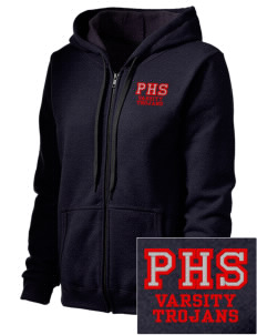Parkland High School Trojans Embroidered Women's Heavy Blend Vintage Full-Zip Hood Sweatshirt
