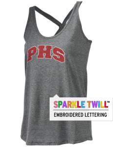 Parkland High School Trojans Women's Tri-blend T-Back Tank with Sparkle Twill™