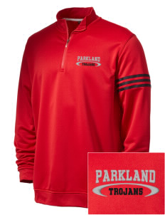 Parkland High School Trojans Embroidered adidas Men's ClimaLite 3 Stripe 1/4 Zip Pullover