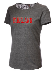 Parkland High School Trojans Women's Tri-Blend Lace Back T-Shirt