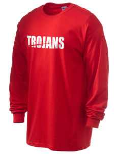 Parkland High School Trojans Men's 6.1 oz Ultra Cotton Long-Sleeve T-Shirt