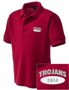 Parkland High School Trojans Embroidered Kid's Silk Touch Polo