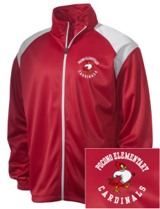 Pocono Elementary Center Cardinals Embroidered Men's Tricot Track Jacket