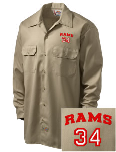 Harriton Senior High School Rams Embroidered Dickies Men's Long-Sleeve Workshirt