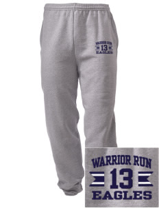 Warrior Run Middle School Eagles Embroidered Men's Sweatpants with Pockets