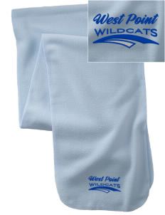 West Point Elementary School Wildcats  Embroidered Extra Long Fleece Scarf